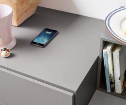 Moderner Design Nachttisch mit Kabelloser Qi Ladestation