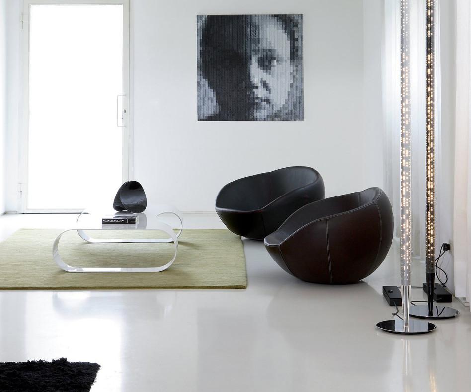 Moderner spHaus Designer Couchtisch Lite Weiss Rot und in Beige