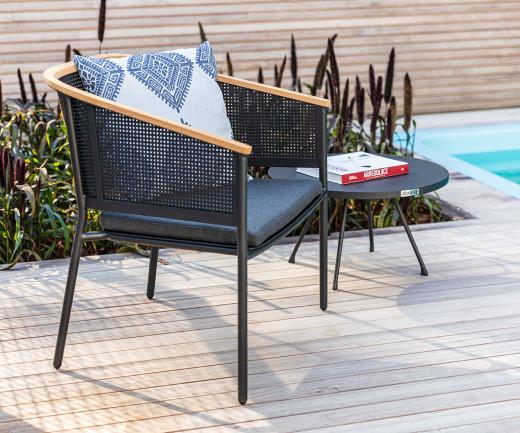 Wetterfester Oasiq Riad Design Loungesessel Anthrazit Gestell