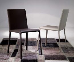 Ozzio Design Stuhl Lunette Leder Schwarz Weiss
