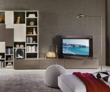 Livitalia Vision Lowboard mit 90° schwenkbarem TV Paneel