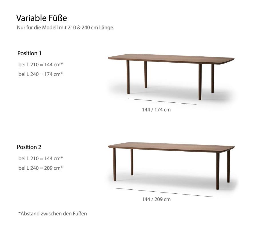 Exklusiver Conde House Kamuy Design Tisch mit Gestell aus Massivholz im Wohnzimmer