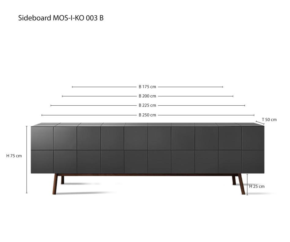 Weißes MOS-I-KO 003 Designer Sideboard von al2 im Esszimmer