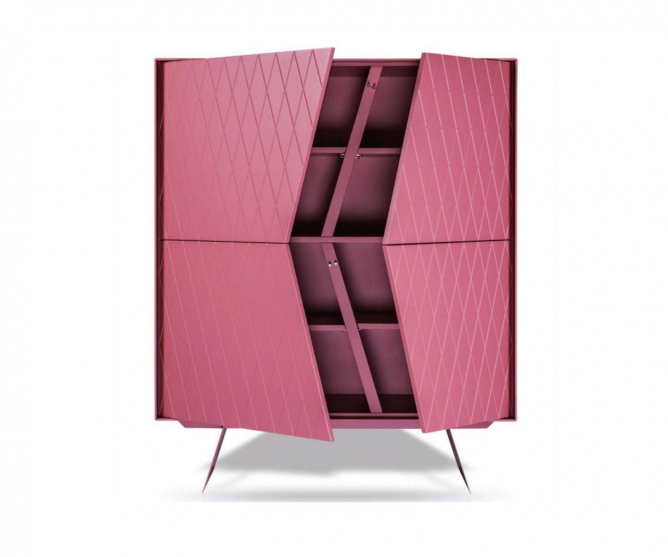 Modernes al2 Design Highboard e-klipse 009 in Pink