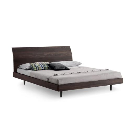 Modernes Novamobili Design Bett Bend in Eiche Weiß