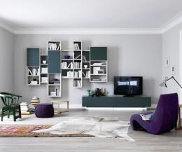Hochwertiger Livitalia TV Design Sockel für schwebende TV Möbel ohne Wandmontage