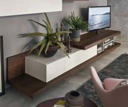 Hochwertiges Offenes TV Design Lowboard mit Klapptür
