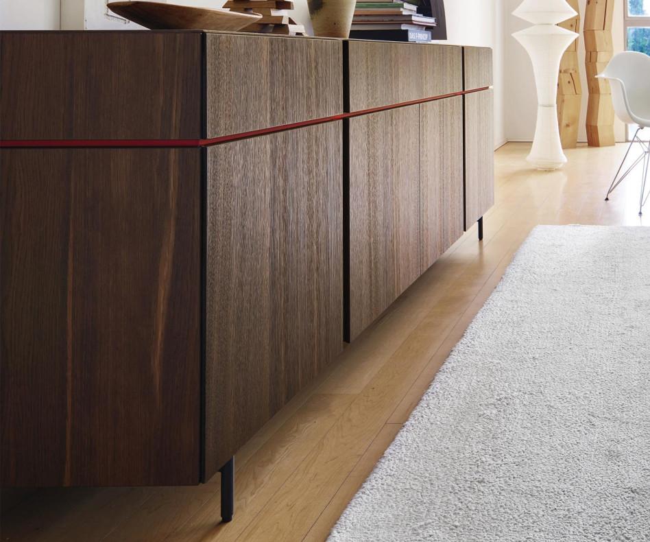 Exklusives Livitalia Abaco Design Sideboard in Eichenfurnier dunkel