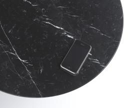 Moderner Marelli Marquina Marmor Schwarz Couchtisch