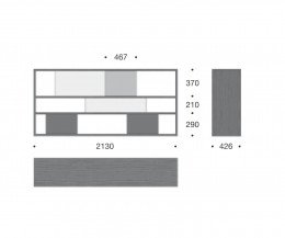 Livitalia Design Standregal C80 Skizze maße Größen Größenangaben