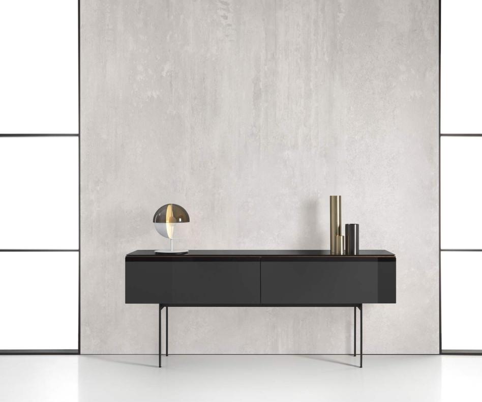 Punt Malmö Design Sideboard mit Walnuss Furnier veredelt