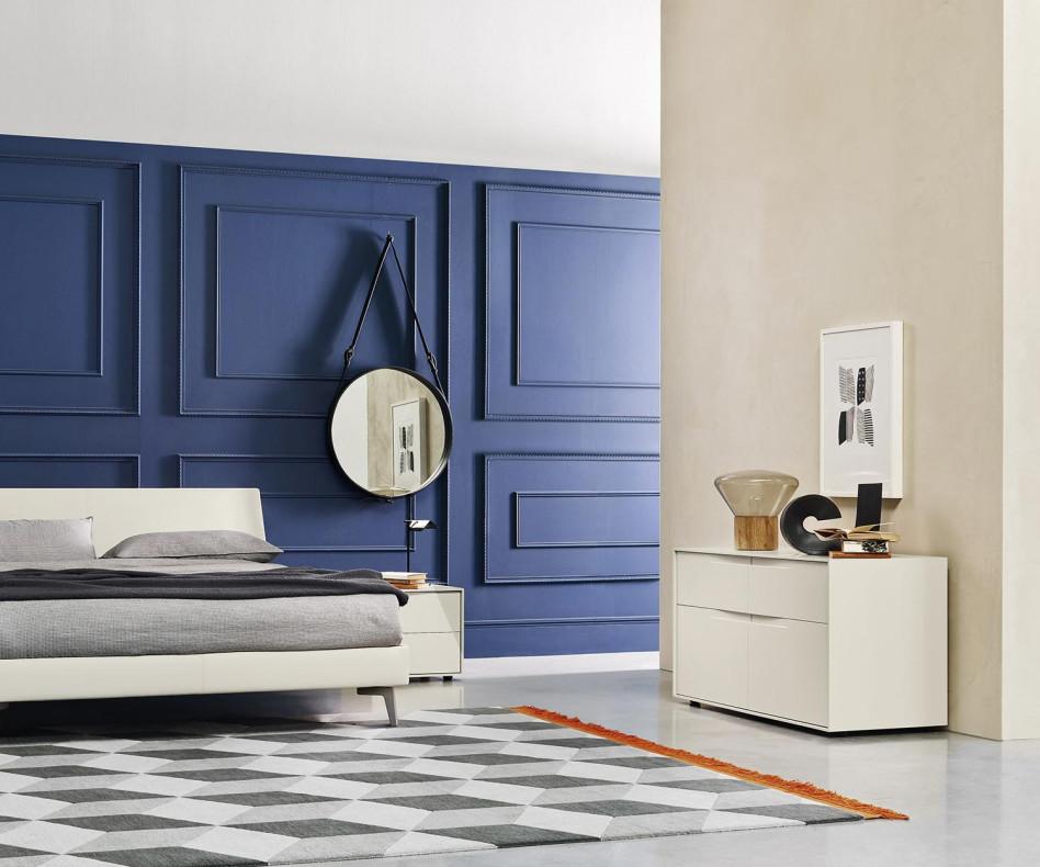 Exklusive Livitalia Vela Design Kommode in Weiß Matt