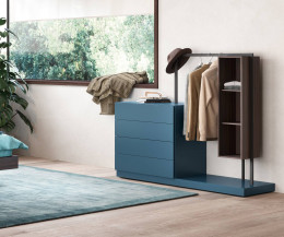 Novamobili Design Kommode Easy 4 mit Garderobe und offenem Element