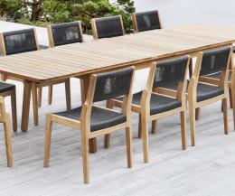 Hochwertiger Oasiq Skagen Teak Design Gartenstuhl mit wetterfester Bespannung