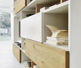 Hochwertiges Livitalia Design Bücherregal C51