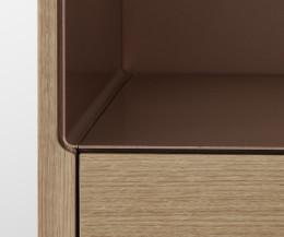 Punt Stockholm TV Design Lowboard im Detail dünne Aluminium Abdeckplatte