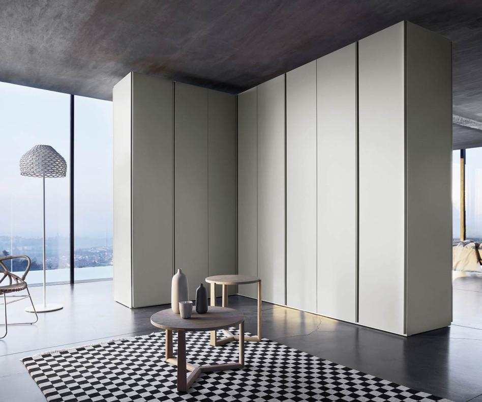 Moderner Livitalia Design Kleiderschrank Sinua Eckschrank