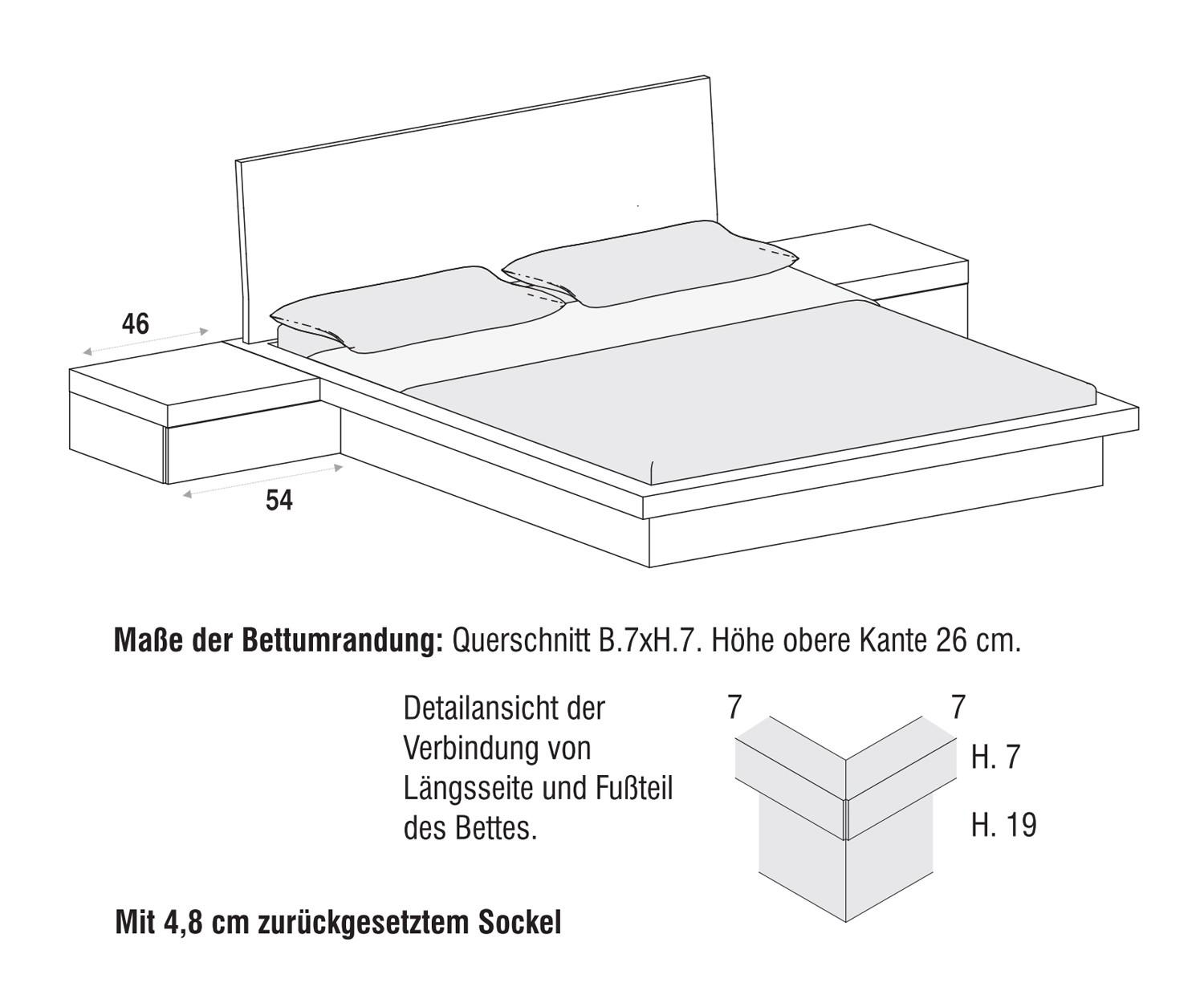 novamobili bett fly maxi mit bettkasten. Black Bedroom Furniture Sets. Home Design Ideas