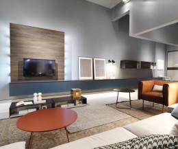 8m Reverese Wand Lowboard - 4x 180cm kombiniert