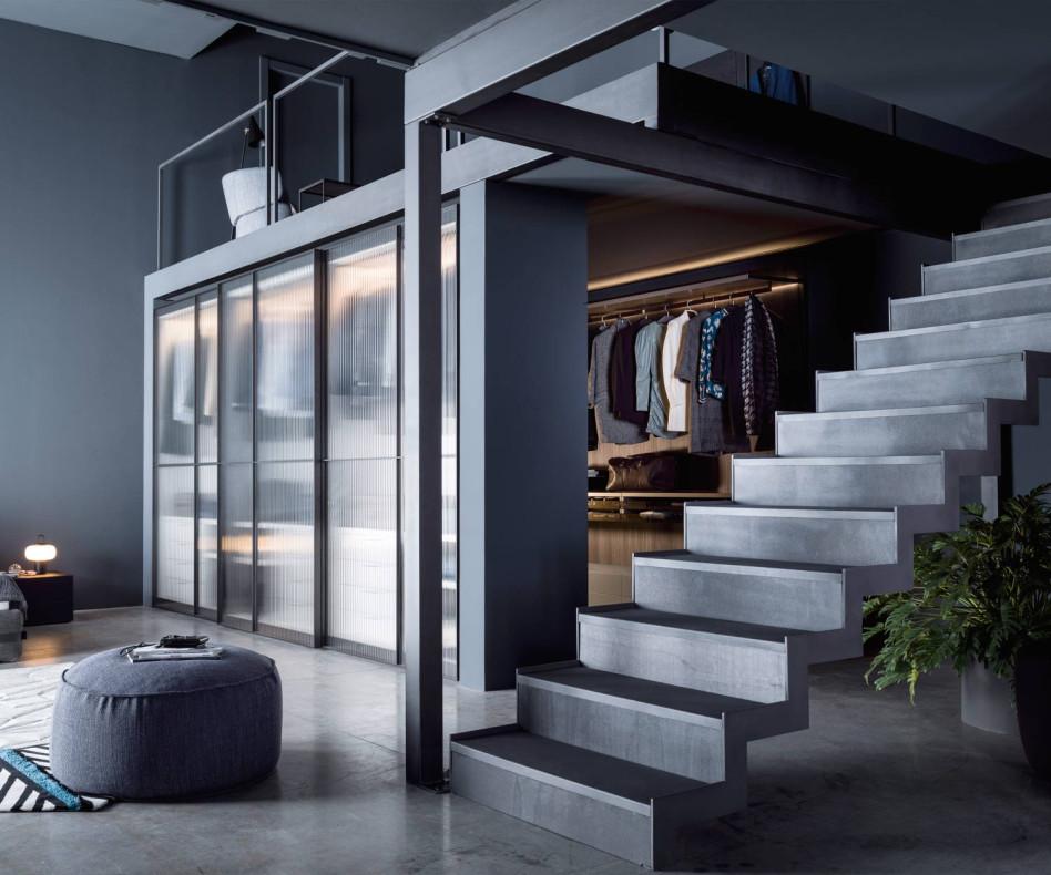 Exklusiver Glas Schiebetüren Design Kleiderschrank Novamobili Layer