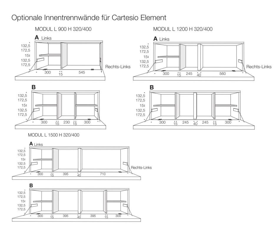 Exklusiver Livitalia Cartesio Design Hängeschrank mit Schreibtisch