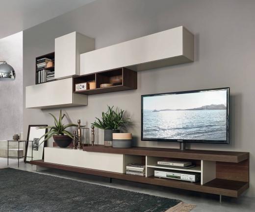 Offenes Lowboard mit TV Halterung