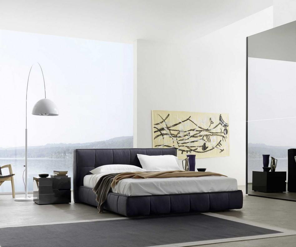 livitalia softbox polsterbett mit dicken rahmen. Black Bedroom Furniture Sets. Home Design Ideas