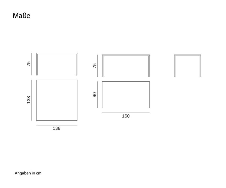 Novamobili Design Tisch Filo Weiß Matt