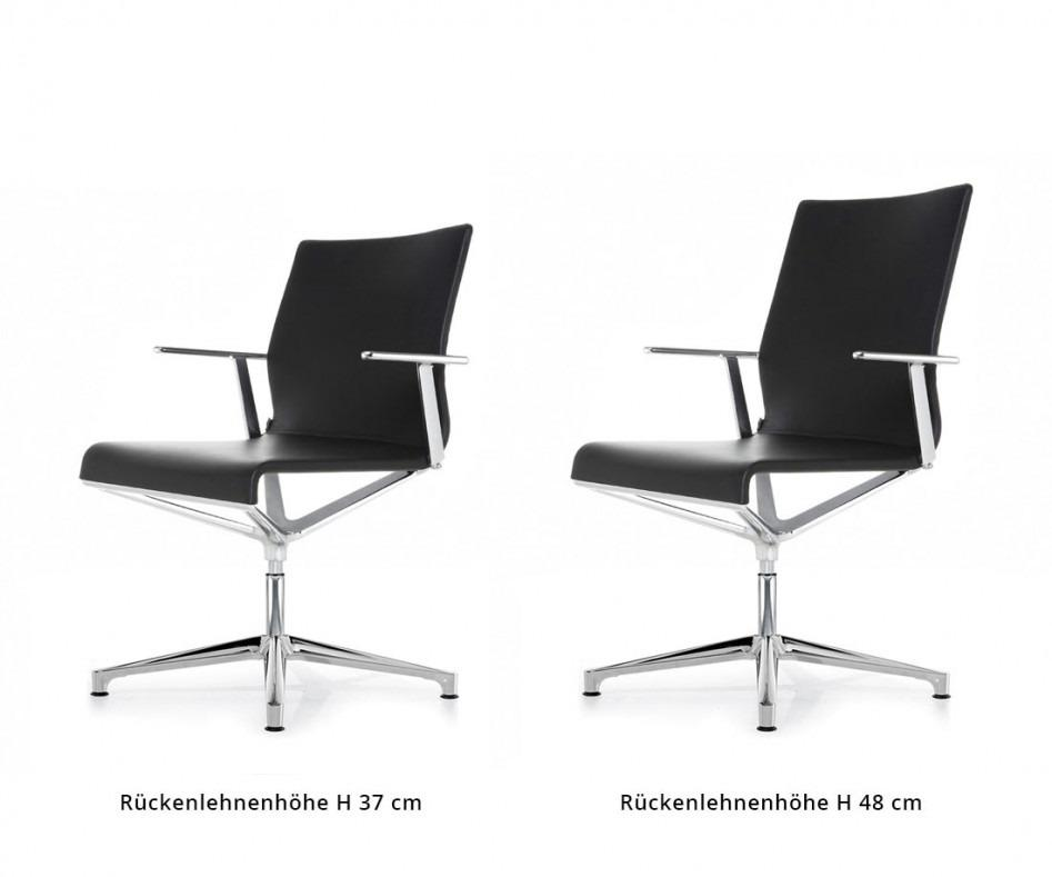 ICF Stick ETK Chair Chrom Aluminium Leder