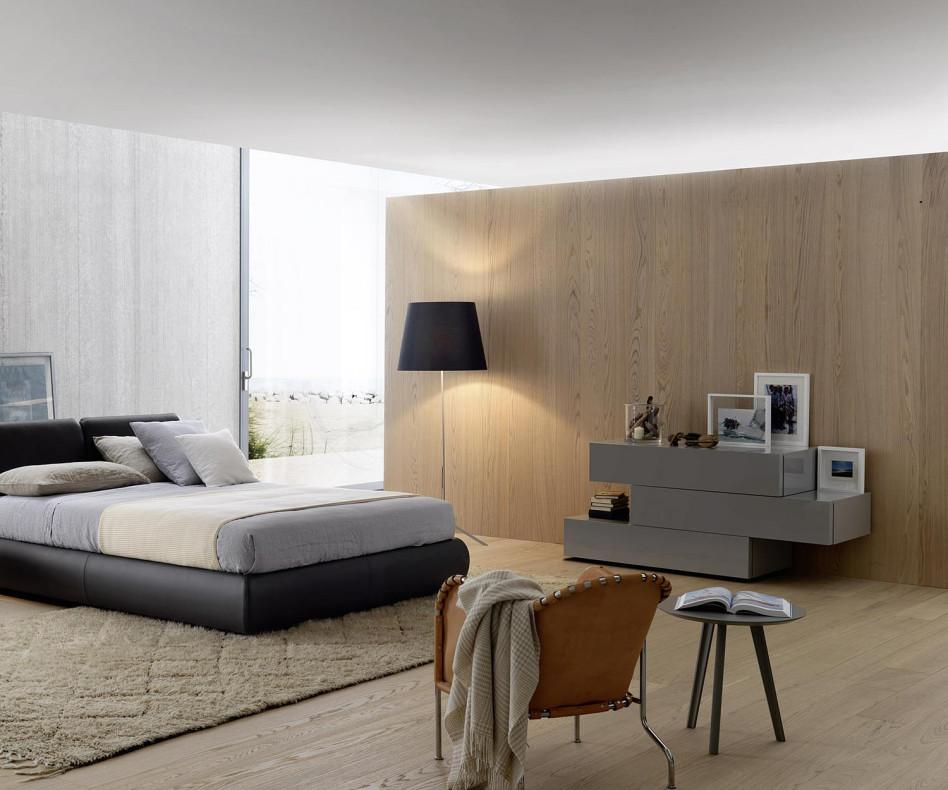 Exklusive Livitalia Valeo Design Kommode in Dunkelgrau Matt