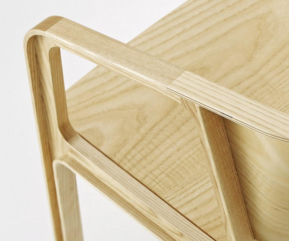 EAJY Beams Design Chair Holzstuhl Rot