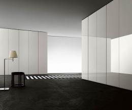 Exklusiver Livitalia Design Kleiderschrank Breccia weiß Glanz