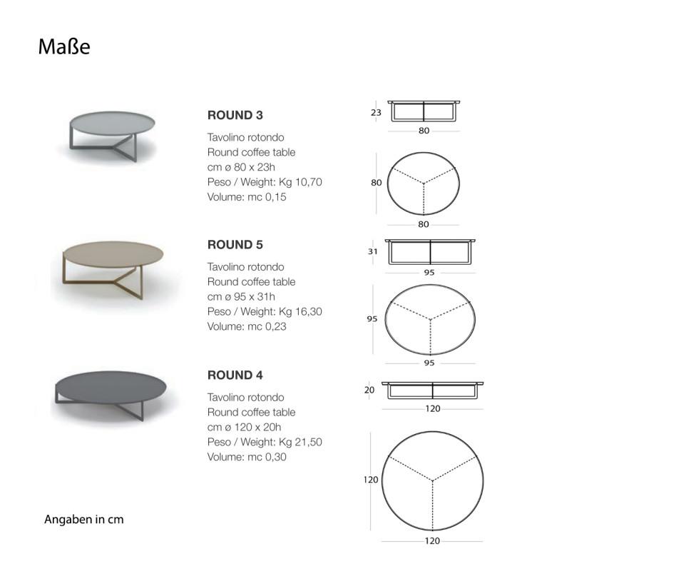 Moderne MEME Design Round Couchtisch Kollektion
