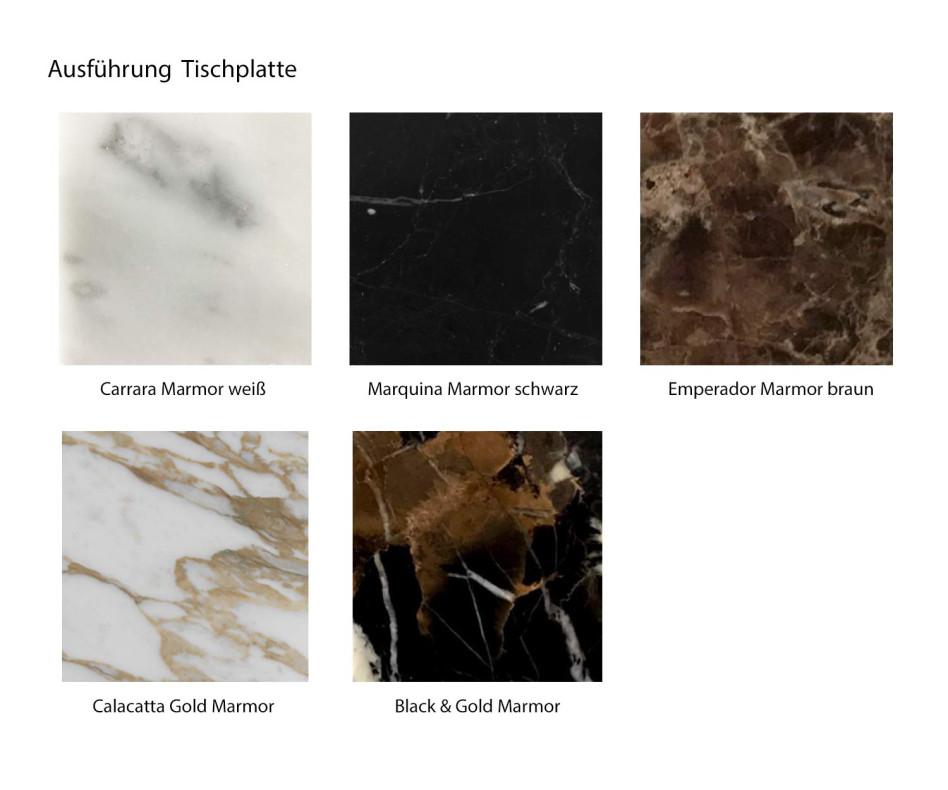 Moderner Marelli Designer Couchtisch Twig Carrara Marmor