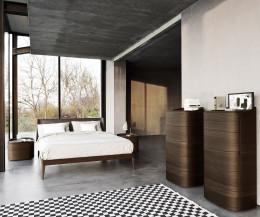 Hochertge Livitalia Design Hochkommode in wärmebehandelter Eiche