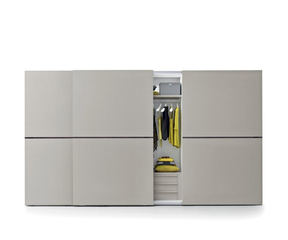 Novamobili Design Kleiderschrank Middle Schiebeturen