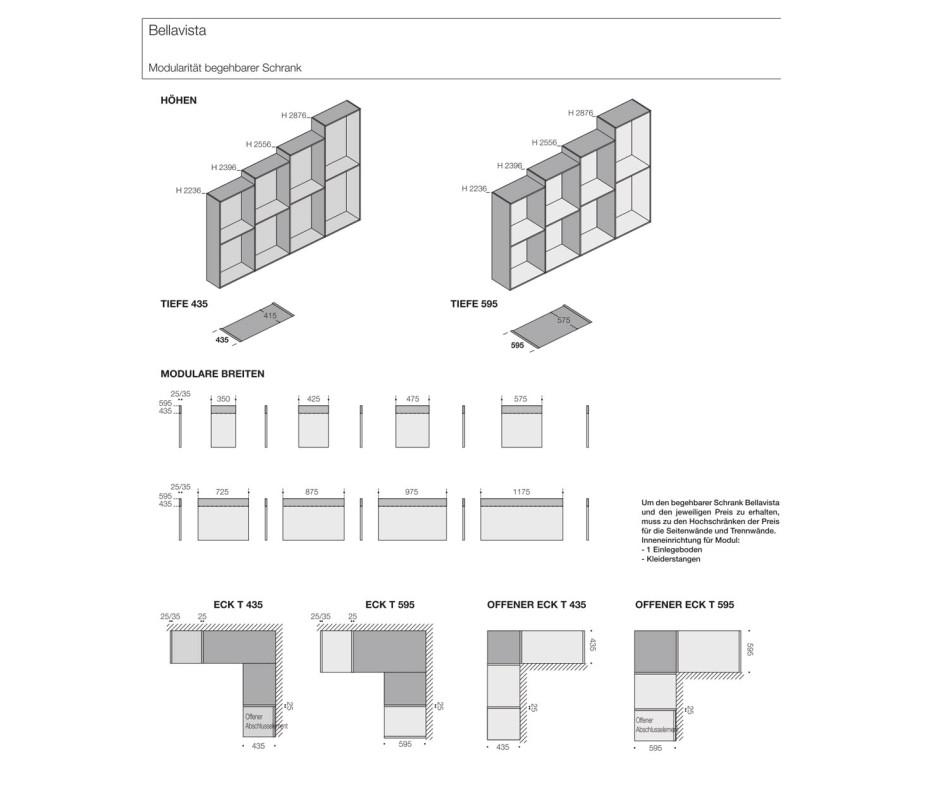 Hochwertiges Livitalia Bellavista Design Ankleidezimmer System