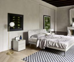 Hochwertiger Ecletto Design Nachttisch mit 3 Schubladen in Weiß Matt