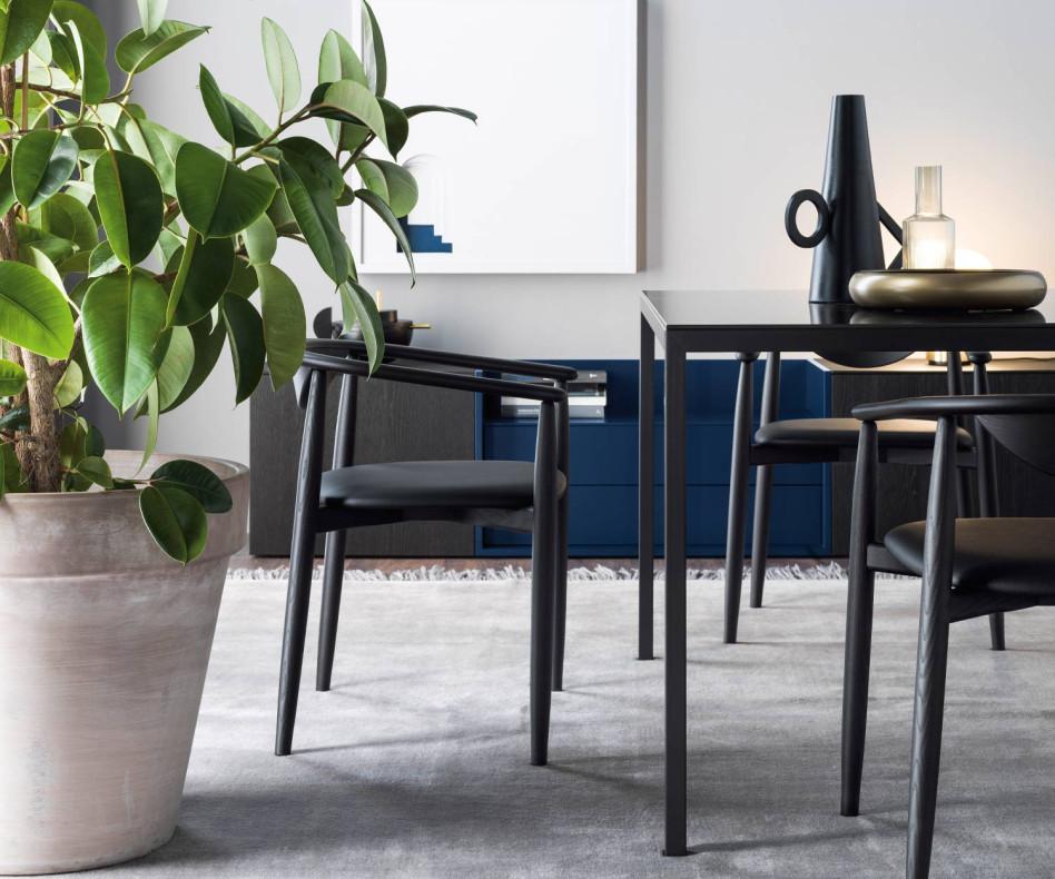 Exklusiver Novamobili Design Tisch Filo Weiß Matt