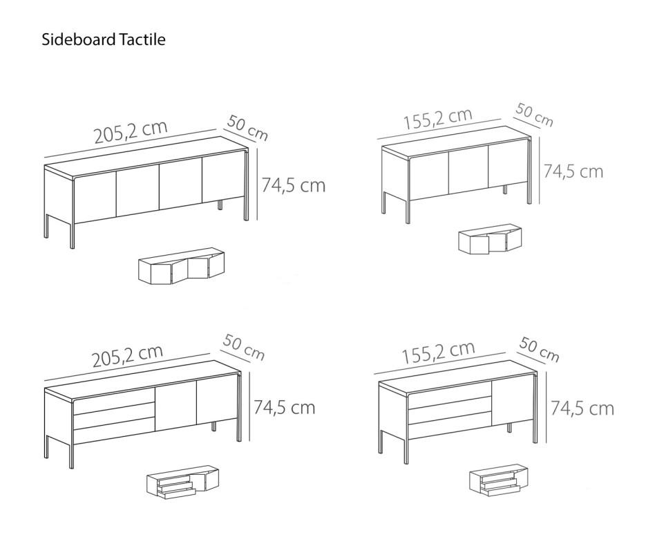 Hochwertiges weißes Punt Designer Sideboard Punt Tactile
