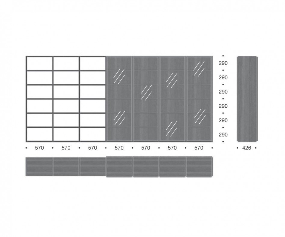 Design Glastüren Raumteiler C91