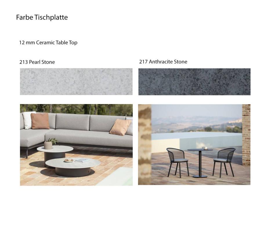 Runder Branta Outdoor Tisch auf Terrasse mit Durchmesser 70 und 100 cm