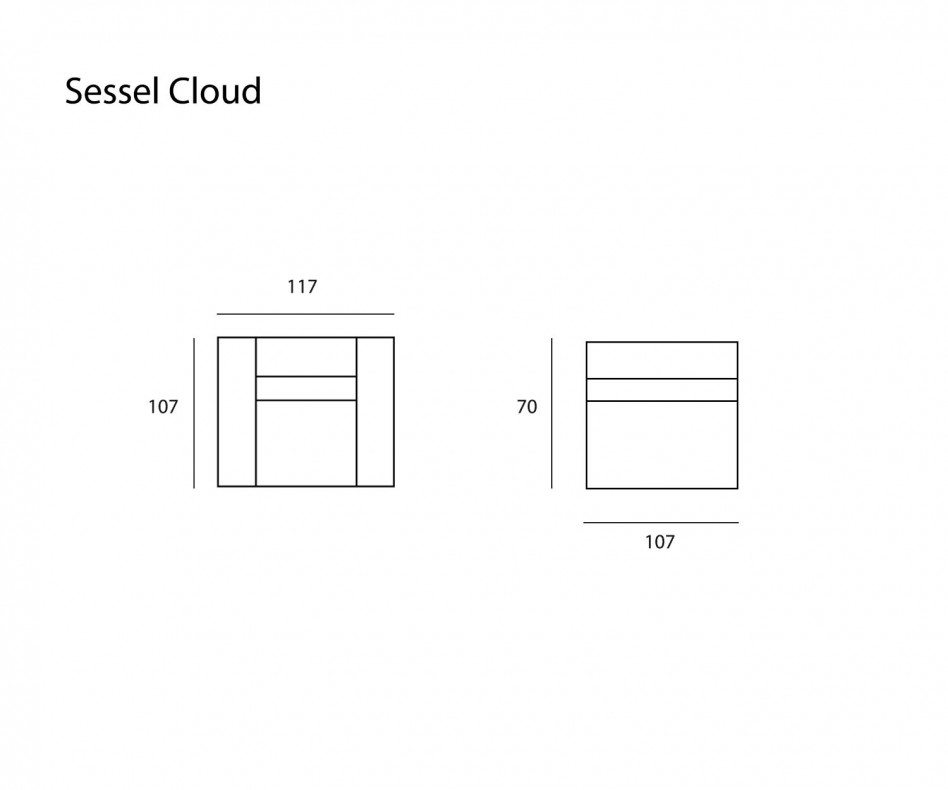 Exklusiver Prostoria Designer Sessel Cloud mit Bezug in Leder
