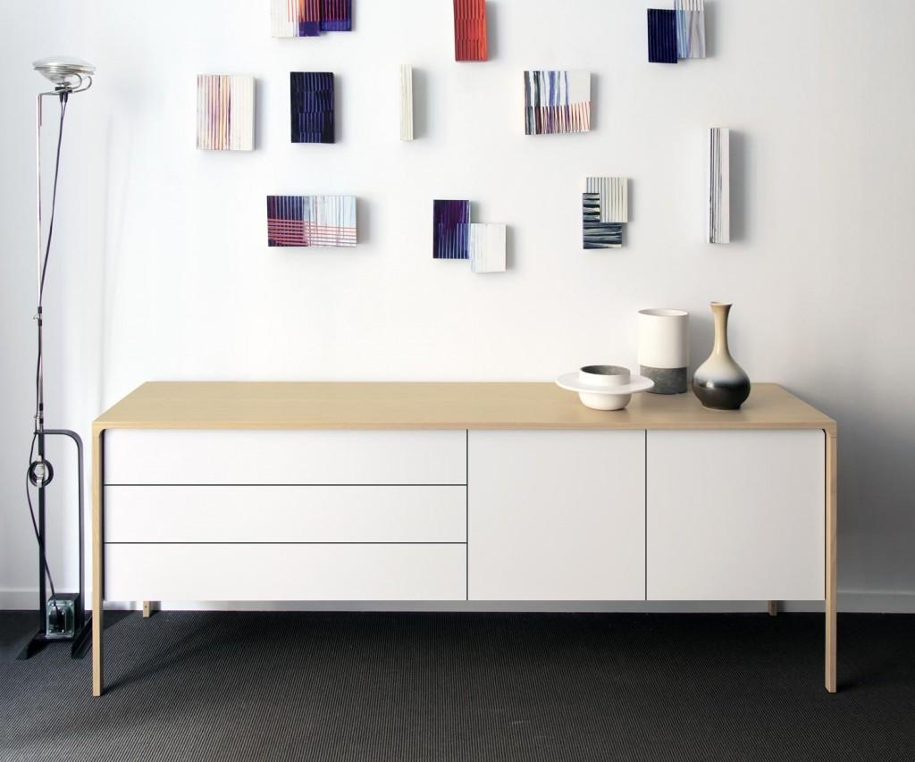 Punt Sideboard Tactile Eiche Weiss