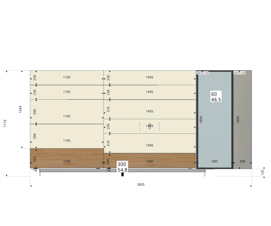 Exklusive Livitalia Design Wohnwand C42 mit Glasvitrine und Bücherregal