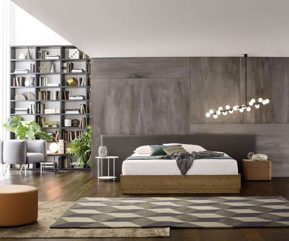 novamobili nachttisch norman 2 schubladen mit marmor. Black Bedroom Furniture Sets. Home Design Ideas