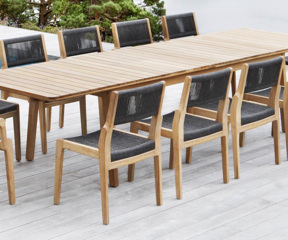Moderner Oasiq Skagen Design Terrassenstuhl aus wetterfestemTeak