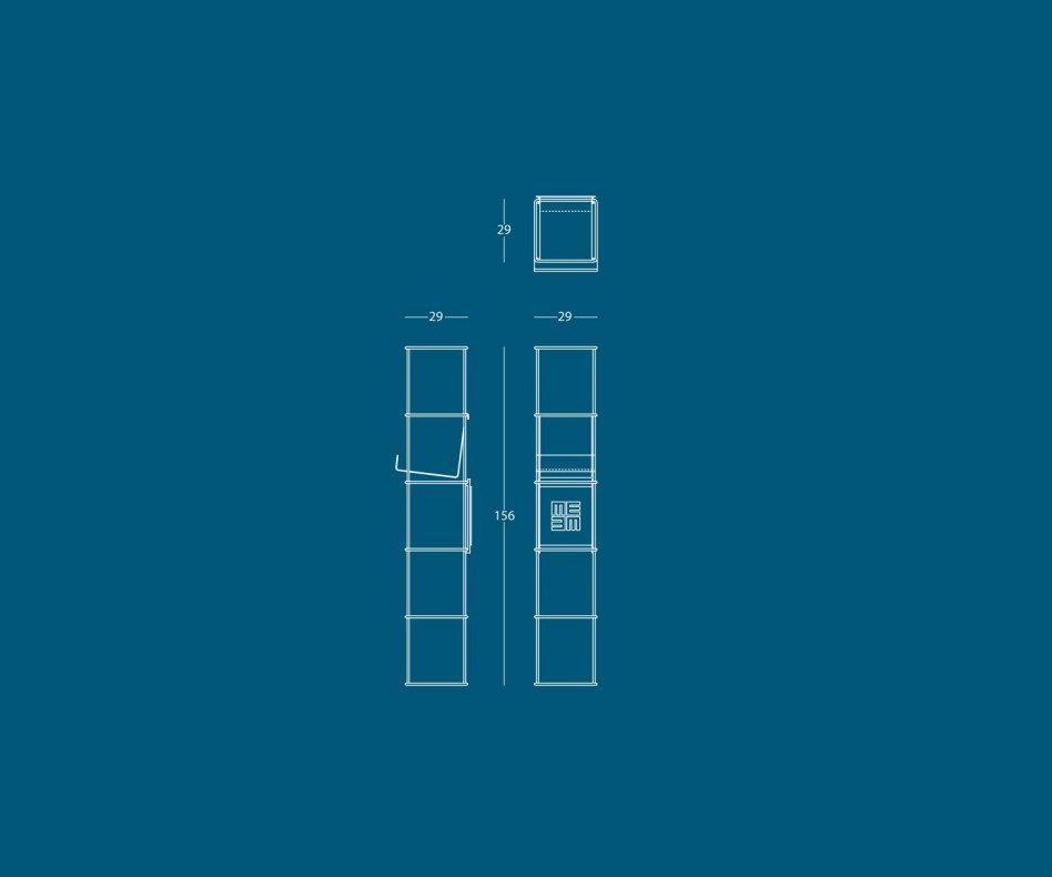 Modernes MEME Libro Design vertikales Wand Bücherregal