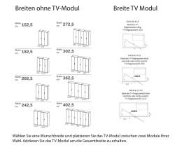 Gola TV Fach Module Breite von Novamobili Design Kleiderschrank