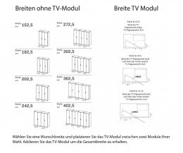 TV Fach Module Breite